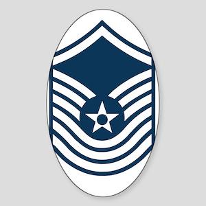 USAF-SMSgt-Old-Blue- Sticker (Oval)