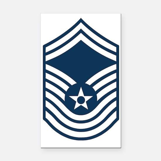 USAF-CMSgt-Old-Blue Rectangle Car Magnet