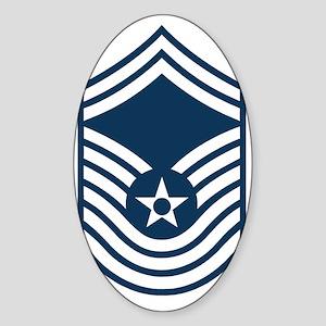 USAF-CMSgt-Old-Blue Sticker (Oval)