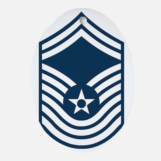USAF-CMSgt-Old-Blue-PNG Oval Ornament