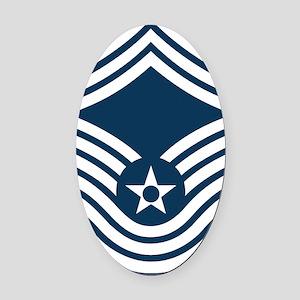USAF-CMSgt-Old-Blue- Oval Car Magnet