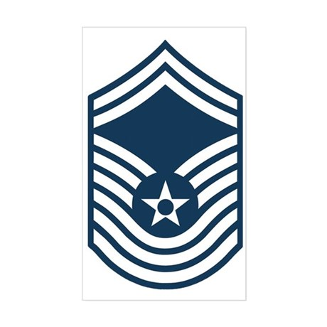 USAF-CMSgt-Old-Blue-PNG Sticker (Rectangle)