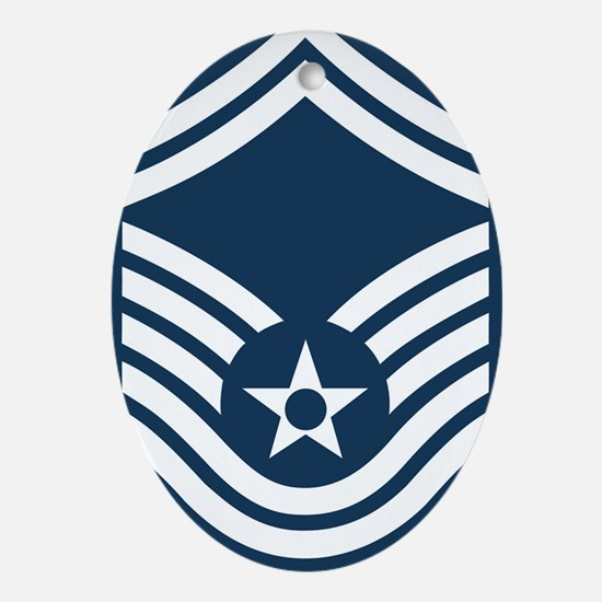 USAF-CMSgt-Old-Blue-4-Inches Oval Ornament