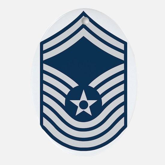 USAF-CMSgt-Old-For-Khaki Oval Ornament