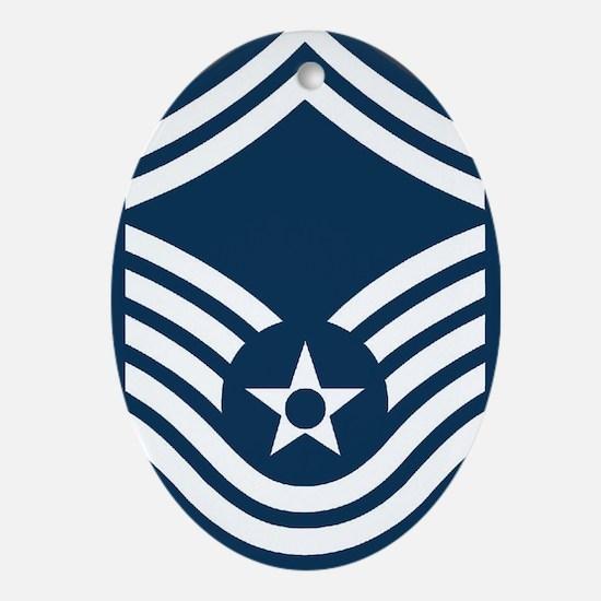 USAF-CMSgt-Old-Journal-2 Oval Ornament