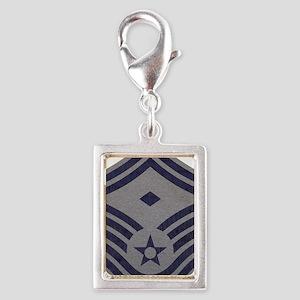 USAF-First-SMSgt-ABU-Fabric Silver Portrait Charm