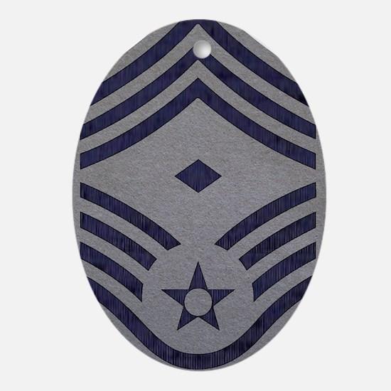 USAF-First-CMSgt-ABU-Fabric Oval Ornament