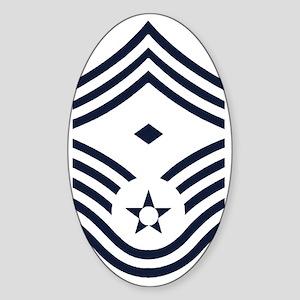 USAF-First-CMSgt-Inverse- Sticker (Oval)