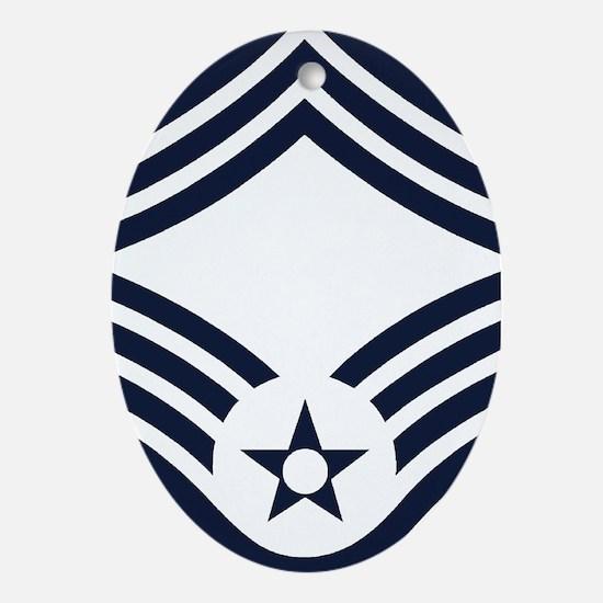 USAF-CMSgt-Inverse Oval Ornament
