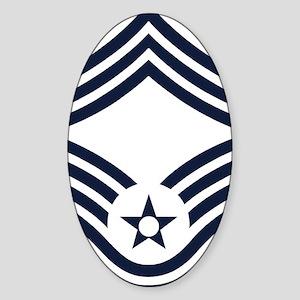 USAF-CMSgt-Inverse Sticker (Oval)