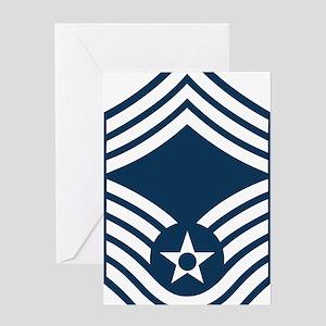 USAF-CMSgt-Blue Greeting Card