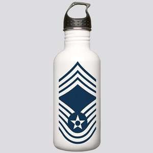 USAF-CMSgt-Blue Stainless Water Bottle 1.0L
