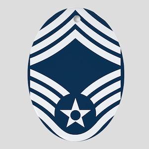USAF-CMSgt-Blue Oval Ornament