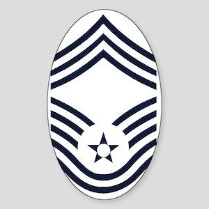 USAF-CMSgt-Inverse- Sticker (Oval)