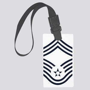 USAF-CMSgt-Inverse- Large Luggage Tag