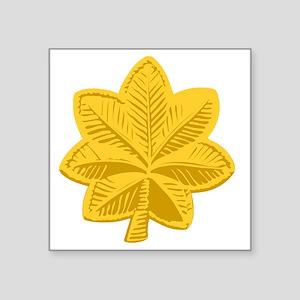 "USAF-Maj-Gold Square Sticker 3"" x 3"""