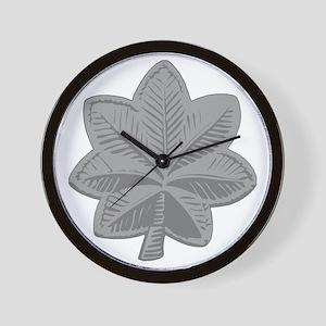 USAF-LtCol-Silver Wall Clock