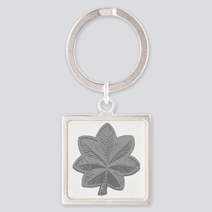 USAF-LtCol-Silver Square Keychain