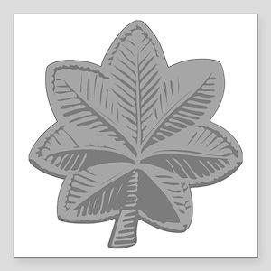 "USAF-LtCol-Silver Square Car Magnet 3"" x 3"""