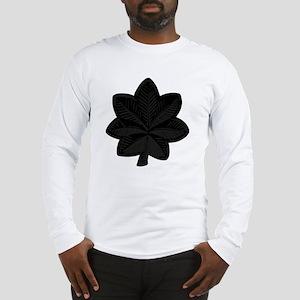 USAF-LtCol-Subdued-Black Long Sleeve T-Shirt