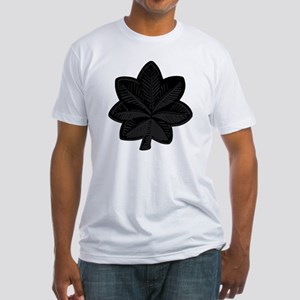 USAF-LtCol-Subdued-Black Fitted T-Shirt