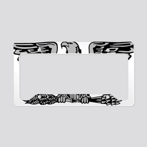 USAF-Col-Silver License Plate Holder
