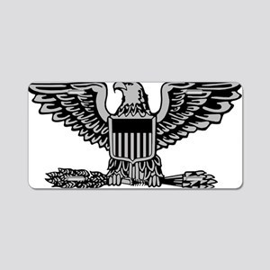 USAF-Col-Silver Aluminum License Plate