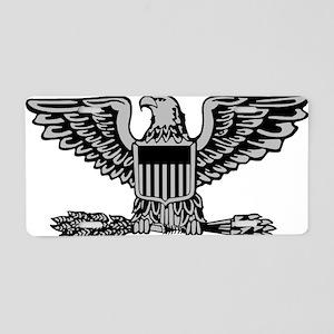 USAF-Col-Silver Aluminum License Plate