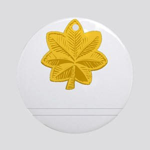 USAF-Maj-Epaulette Round Ornament