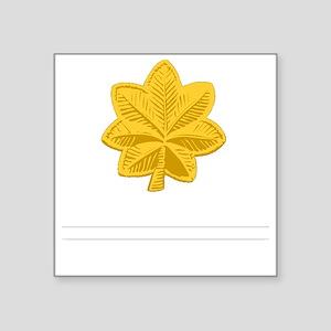 "USAF-Maj-Epaulette Square Sticker 3"" x 3"""