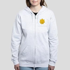 USAF-Maj-Epaulette Women's Zip Hoodie