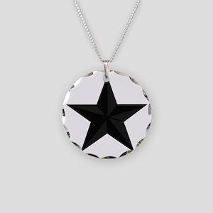 2-USAF-BG-Subdued-Black- Necklace Circle Charm