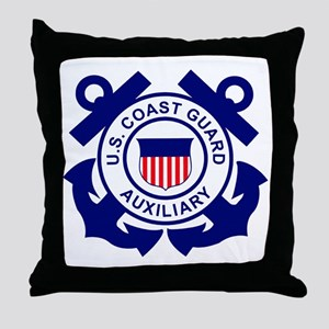 USCGAux-Logo-Bonnie Throw Pillow
