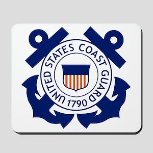 USCG-Logo-Blue-White Mousepad