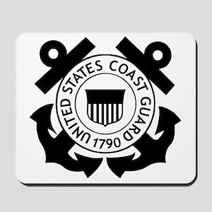 USCG-Logo-Black-White Mousepad