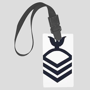 USCG-Rank-CPO-Whites-Obsolete Large Luggage Tag