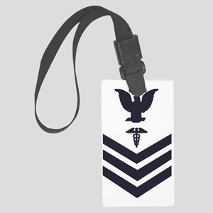 USCG-Rank-HS1-Crow-Subdued-Blue- Large Luggage Tag