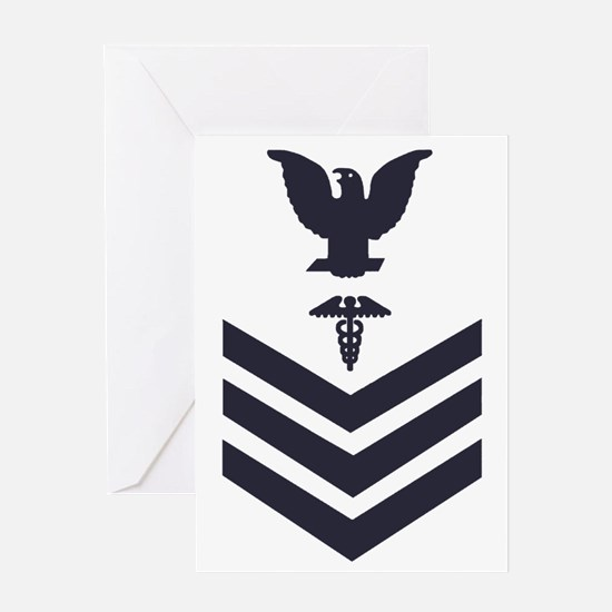 USCG-Rank-HS1-Crow-Subdued-Blue-PNG Greeting Card