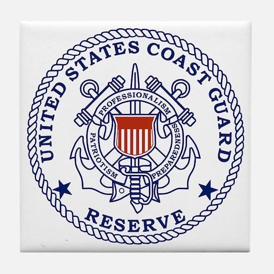 USCGR-Emblem-Red-Blue Tile Coaster