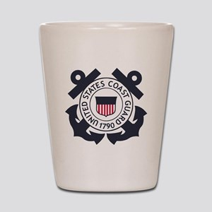 USCG-Logo-Blue-White-For-Blue-Crows Shot Glass