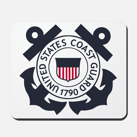USCG-Logo-Blue-White-For-Blue-Crows Mousepad