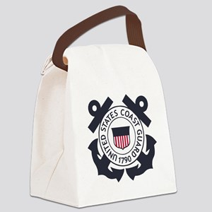 USCG-Logo-Blue-White-For-Blue-Cro Canvas Lunch Bag