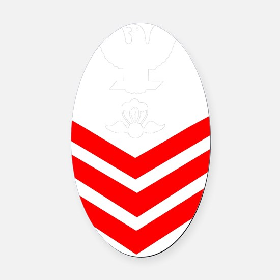 USCG-Rank-AST1-PNG Oval Car Magnet