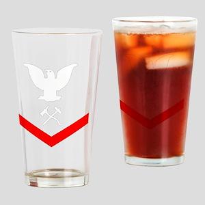 USCG-Rank-DC3-Crow- Drinking Glass