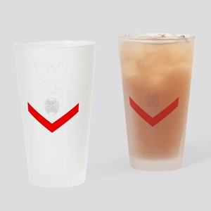 USCG-Rank-EM3-Crow- Drinking Glass