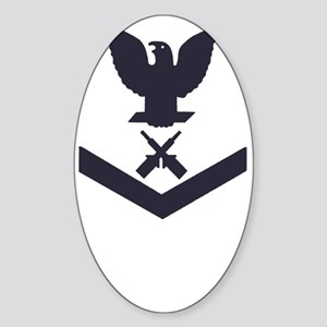 USCG-RANK-GM3-Blue- Sticker (Oval)