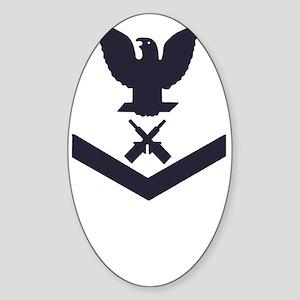 USCG-RANK-GM3-Blue- Sticker (Oval)