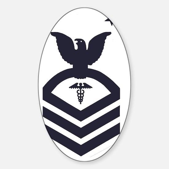 USCG-Rank-HSCM-Blue-PNG Sticker (Oval)