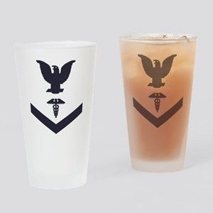 USCG-Rank-HS3-Crow-Subdued-Blue- Drinking Glass