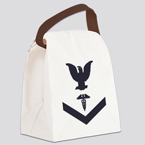 USCG-Rank-HS3-Crow-Subdued-Blue-P Canvas Lunch Bag
